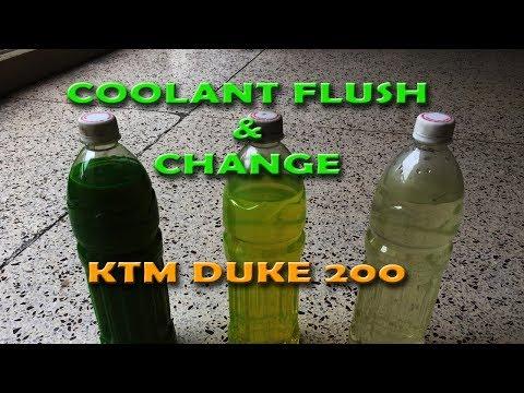 Coolant Flush & Change   KTM DUKE 200 (2012) - YouTube