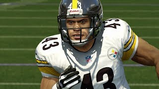 The steel curtain defense flexes muscles vs ravens live commentary - madden 25 online gameplay