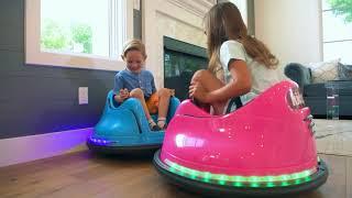 Kidzone DIY Race #00-99 6V Kids Toy Electric Ride On Bumper Car Vehicle Remote Control 360