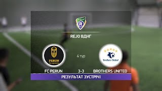 Обзор матча FC Perun Brothers United R CUP Турнир по мини футболу в Киеве