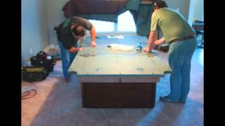 Peter Vitale Cache Pool Table Installation