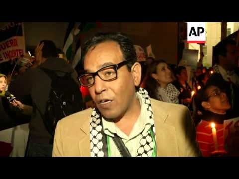 Pro-Palestinian activists rally in Peruvian capital