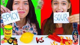 ASMR SPICY FOOD VS SOUR FOOD CHALLENGE   EATING SOUNDS LILIBU