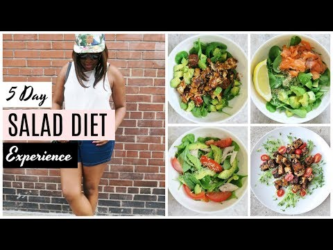 salad only diet for a week
