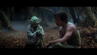 """Gambar cover Empire Strikes Back Yoda training Luke part 3 """"Try not. Do. Or do not. There is no try."""" (HD)"""