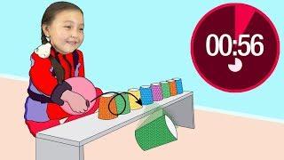 Игры для подростков с бумажными стаканами by Bonny Kids Rhymes