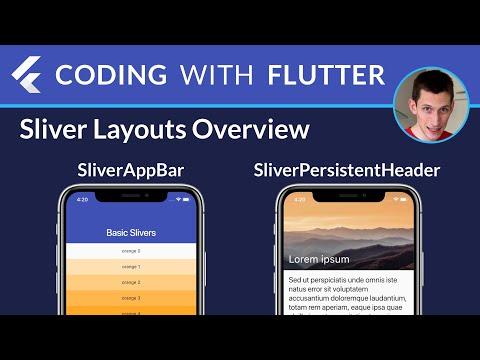 Flutter Slivers Overview: SliverAppBar, SliverPersistentHeader