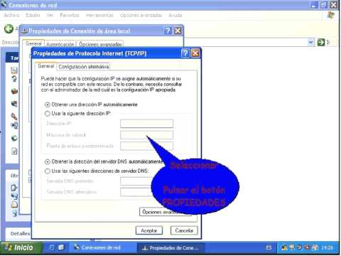 cambiar direccin ip en windows xp professional sp2