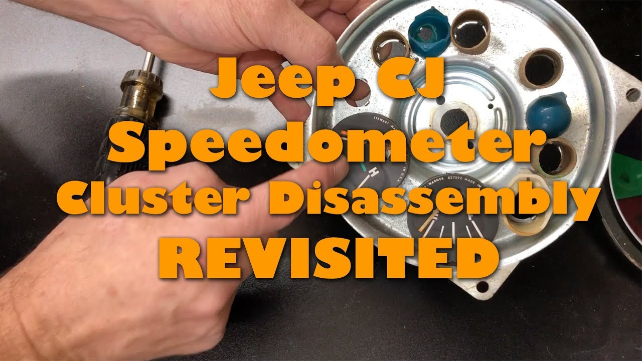 Revisiting the Jeep CJ Speedo Disembly on