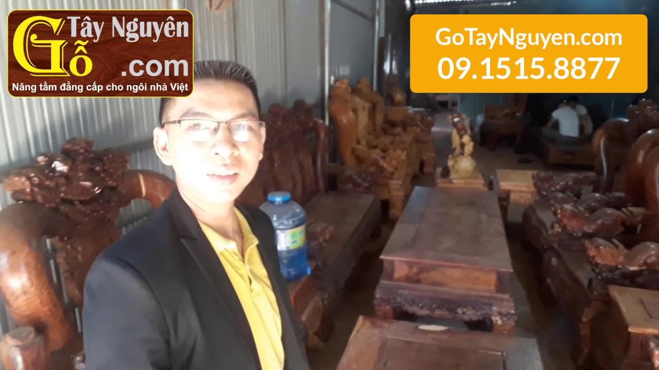Bộ Bàn Ghế Gỗ Cẩm Lai Việt Nam Tay 14 Tuyệt Đẹp Cực Hiếm | GoTayNguyen.com