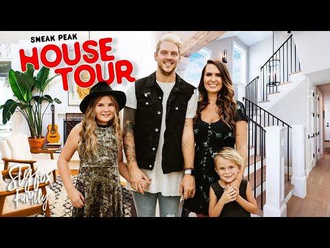 New Empty HOUSE TOUR Sneak PEAK!! 🏡 *Building House Update* | Slyfox Family