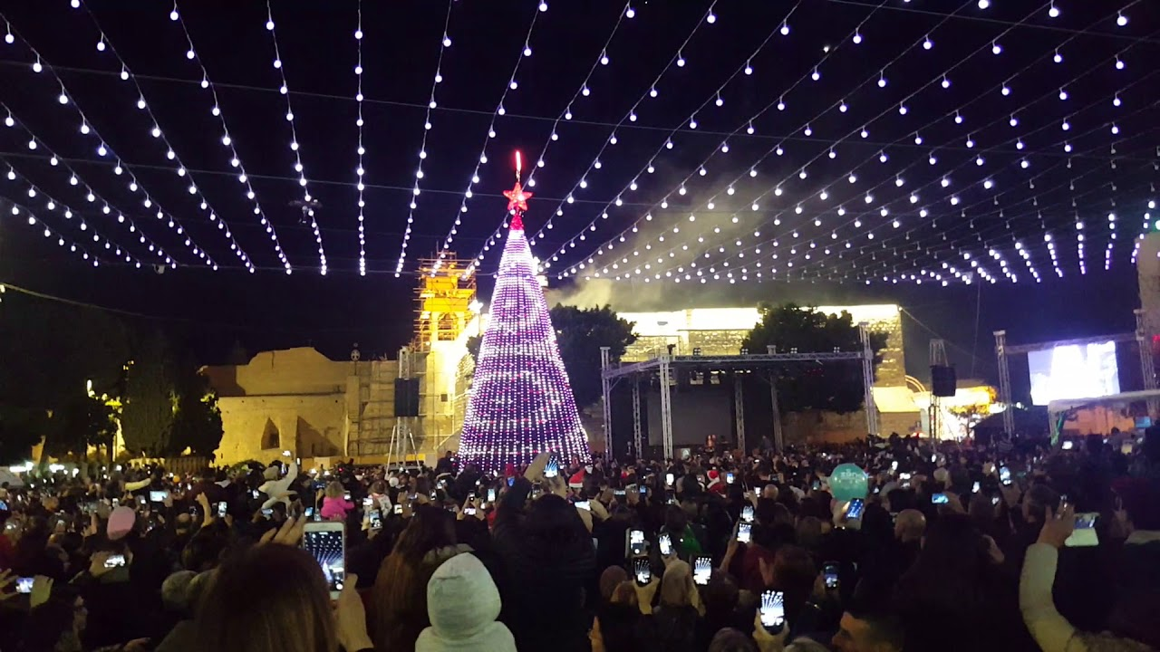 Lighting The Christmas Tree In Bethlehem 2017