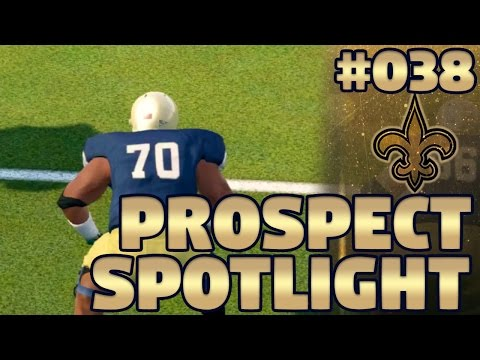 Madden NFL 17 Saints Franchise Ep. 38 | Prospect Spotlight #8: Offensive Tackles (NCAA 14 Footage)