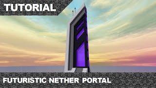 Minecraft Futuristic Nether Portal Tutorial & Download