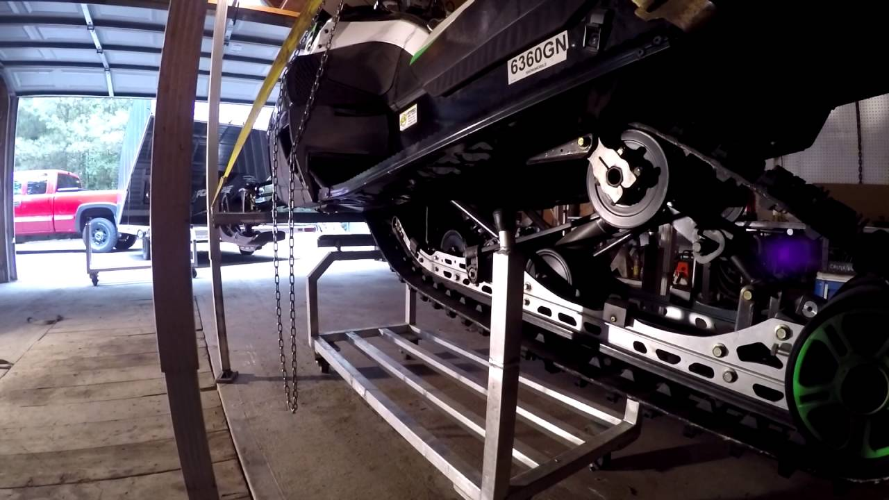 Storage Work Racks For Any Snowmobile Youtube