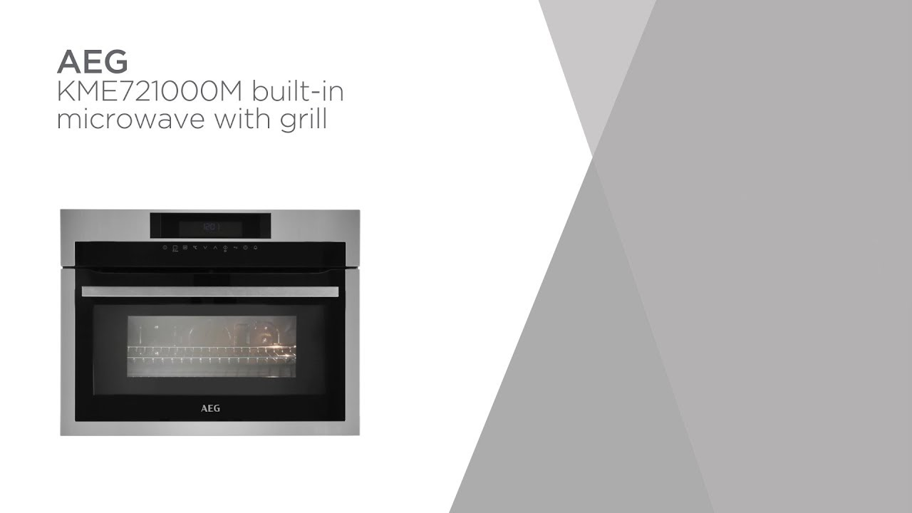 Aeg Kme721000m Built In Microwave With Grill Black Steel Product Overview Currys Pc World