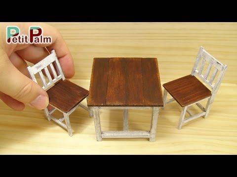 DIY How to make Miniature Table & Chair Vintage Paint Tutorial - Petit Palm