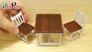 How to Make Miniature furniture. ▽Feel free to follow me! Twitter:https://twitter.com/Petit_Palm Instagram: https://www.instagram.