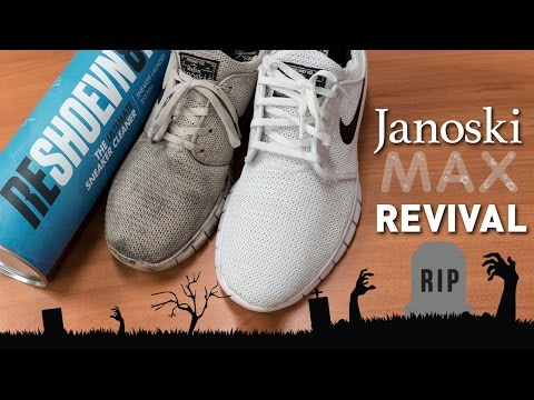 The best way to clean WHITE MESH!! Nike Janoski Max