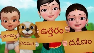 Dikkulu (Directions) | Telugu Rhymes for Children | Infobells