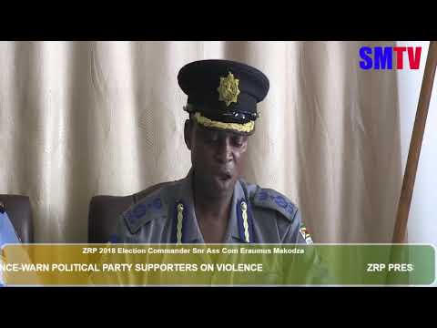 ZRP warns perpetrators of political violence in 2018 elections