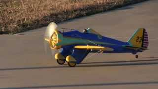 Hobby King Boeing P-26 Peashooter Maiden Flight