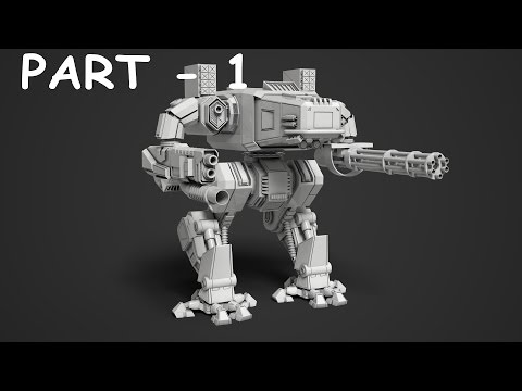 Mech robot modeling 3ds max tutorial part - 1