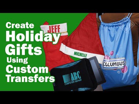 Create Holiday Gifts Using Custom Transfers