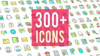 Icons Pack 300 Animated Icons | After Effects template