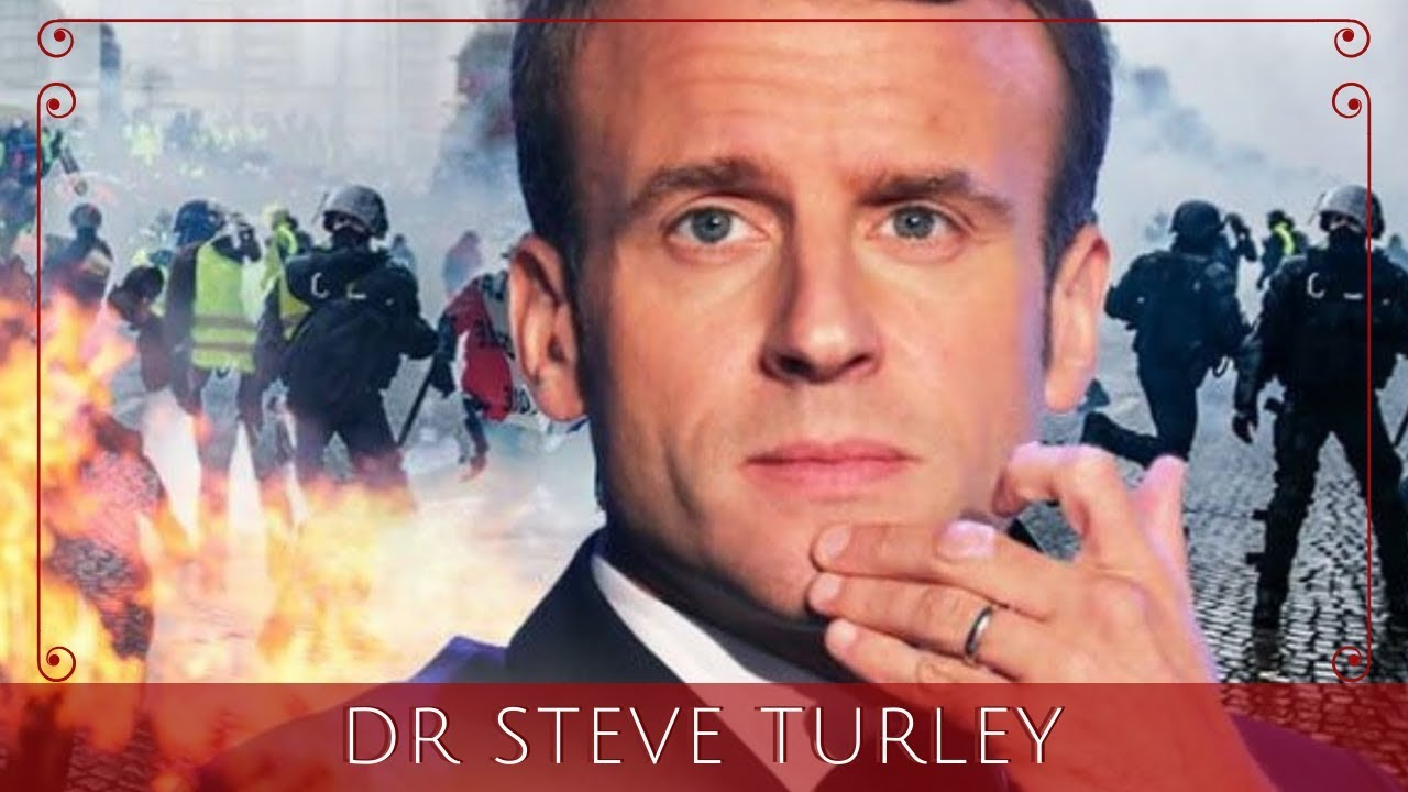 EU CRISIS! Protests EXPLODE Throughout France as Macron's Support IMPLODES!!! - Dr Steve Turley