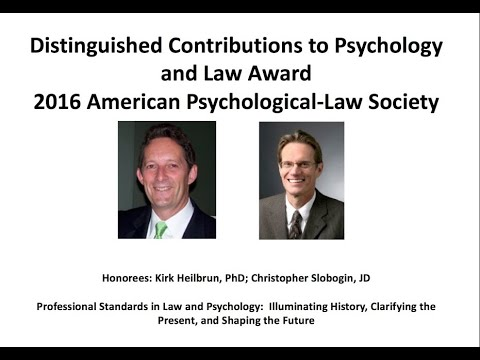 AP-LS 2016 Distinguished Contributions to Law and Psychology