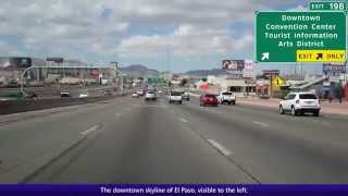 Westbound Interstate 10 in El Paso, Texas