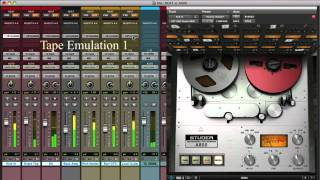 Analog Emulation Plug-ins in digital mixing