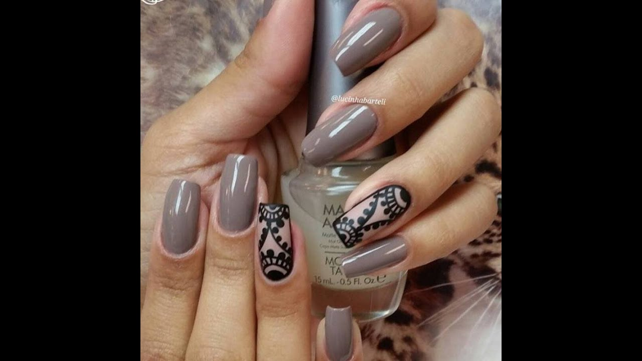 Nude nail art youtube prinsesfo Gallery