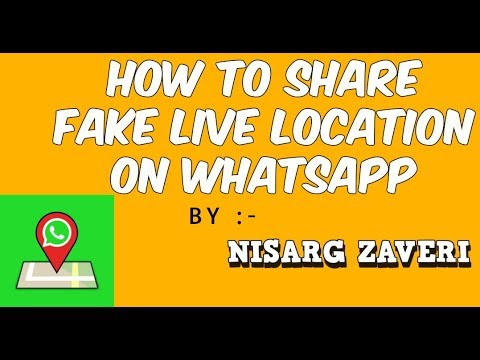 How To Share Fake Live Location on Whatsapp With Proof [2017-18] ||  Whatsapp hack
