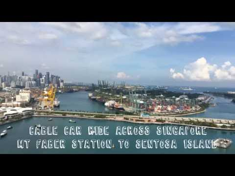 GoPro: Cable Car Ride across Singapore | Sentosa Island from Mt Faber Station.
