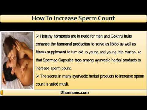 Products that increase sperm
