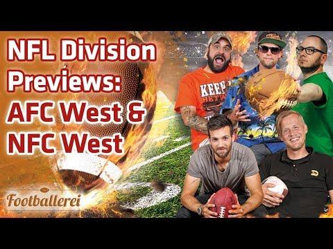 NFL Division Previews: AFC West & NFC West  | Footballerei SHOW