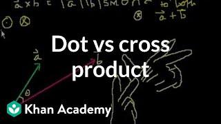 Dot vs. cross proḋuct | Physics | Khan Academy