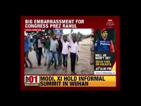 'Modi, Modi' Slogans Chanted In Rahul Gandhi's Karnataka Roadshow