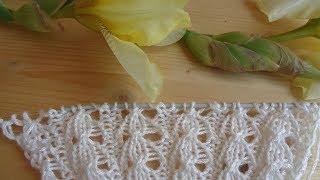 Вязание спицами Ажур для мохеровой кофты