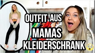 Komplettes Outfit aus Mamas Kleiderschrank?! Krasse Outfit Challenge!! 😳 ⎥ PIA