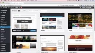 Tổng quan giao diện Wordpress