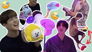 How BTS treats BT21 | someone take bt21 away from them