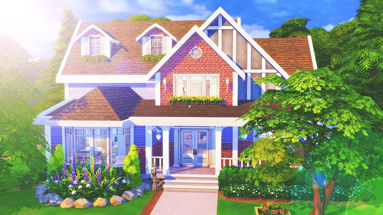 The sims 4 speed build large family home youtube for What is family home