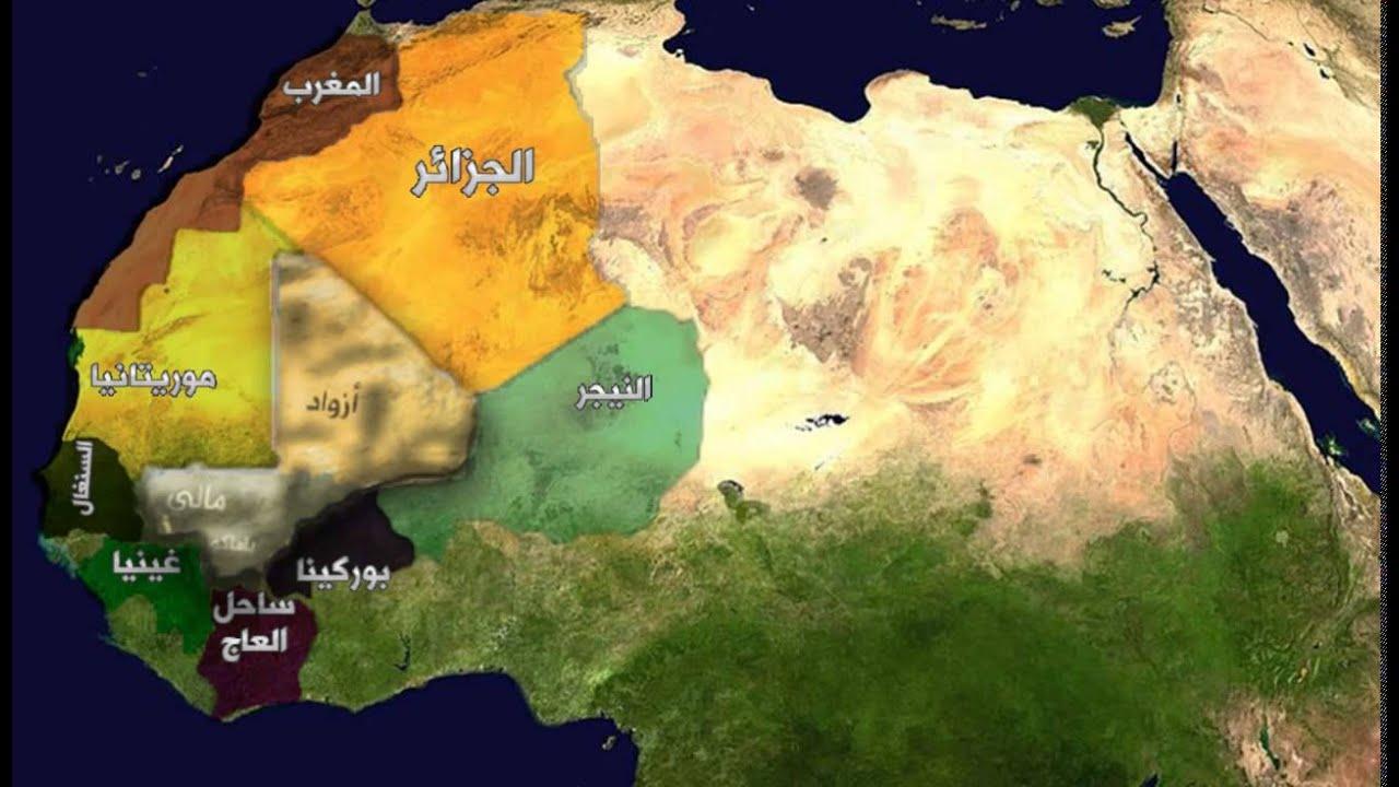 Mali Map With Names YouTube - Mali map