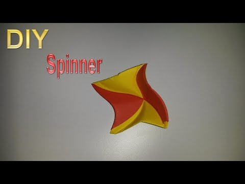 How To Make A Paper Spinner – How to fold a Spinner out of Paper - DIY
