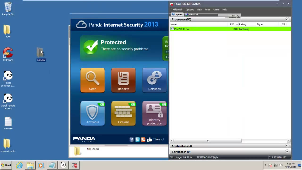 Panda Internet Security Test and Review