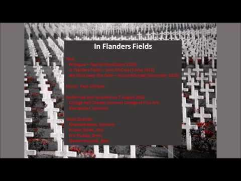 In Flanders Fields - Gilliland/McCrae/Michael