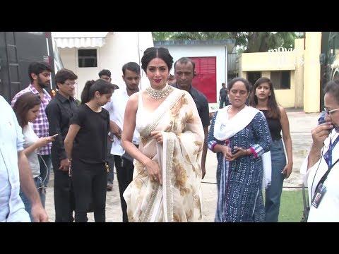 Sridevi INSIDE Filmcity Studio For Mom Movie Promotions
